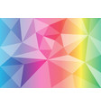 polygon rainbow color abstract background vector image