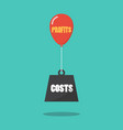 profits and costs concept vector image vector image