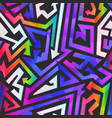 rainbow color graffiti pattern vector image