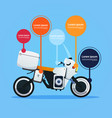 realistic motorcycle off road bike hybrid electric vector image