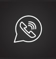 ringing phone answer thin line on black background vector image