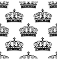 seamless background pattern a royal crowns vector image vector image