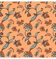 Seamless Flower wallpaper birds herbs vector image vector image