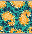 seamless oriental pattern paisley and vector image vector image