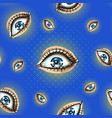 seamless pattern with creepy eyes wide open bright vector image vector image
