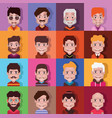 set 16 avatar icons 01 vector image vector image