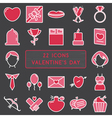 Set of 22 icons in style monoline for Happy vector image