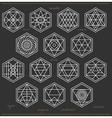 Set of geometric hipster shapes45z662black vector image vector image