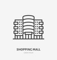 shopping mall flat line icon thin sign of vector image vector image