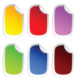 sticker in six color set one vector image