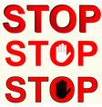 Stop inscriptions set vector image