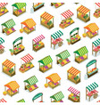 street farm market counter seamless pattern vector image
