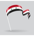Syrian wavy flag vector image vector image
