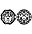 Tattoo styled masks vector image vector image