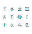 teleporting transportation icon collection set vector image vector image