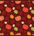 thanksgiving and autumn seamless pumpkin pattern vector image