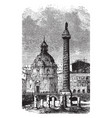 trajans column a monument in honor of emperor vector image vector image