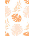 tropical palm leaves seamless pattern pink vector image vector image