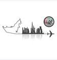 United Arab Emirate Skyline Buildings Silhouette vector image