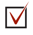 yes checked voting icon vector image vector image