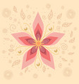 floral design traditional russian with flowers vector image