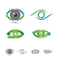 set of logos and icons of eye logo concept vector image