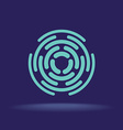 abstract circle segments sign construction logo vector image vector image