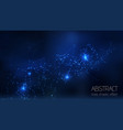 abstract illuminated particles sparks and vector image