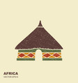 african tribal hut icon isolated with scuffed vector image vector image