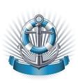 Anchor emblem vector image vector image