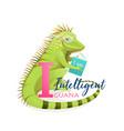 animal abc letter i is for intelligent iguana vector image