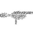 anniversary gift ideas for the husband text word vector image vector image