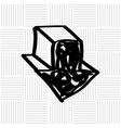 arrow download design vector image