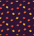autumn seamless pattern with floral decorative vector image vector image