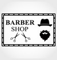 barber shop logo barbershop emblem label badge vector image