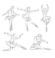 Beautiful ballerina hand drawn vector image vector image
