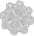 beautiful coloring book page with floral art vector image vector image