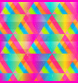 bright triangle seamless texture vector image vector image