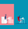 business woman with easy and stressful work vector image