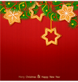 Christmas background with sweets vector | Price: 1 Credit (USD $1)