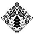 christmas scandinavian folk art pattern vector image vector image