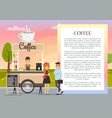 coffee shop banner colorful vector image vector image