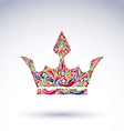 Colorful flower-patterned crown coronation design vector image vector image