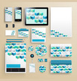 corporate identity template with color elements vector image