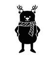 cute reindeer christmas character vector image vector image