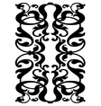 Damask block pattern vector image vector image