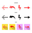 design of element and arrow sign set of vector image vector image