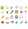Diner isolated icons set