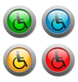 Disabled icon set on glass buttons vector image vector image