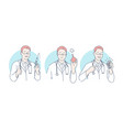 doctor medical procedures set concept vector image vector image